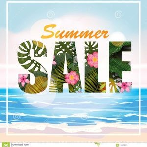 Summer Sale 5/$25 on items with a 🌺 in tthe Title